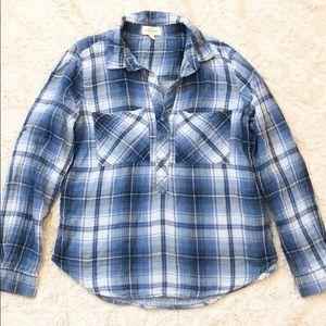 Anthropologie Cloth & Stone Plaid Shirt